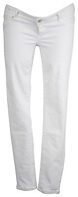 Ex Store Maternity Multiway Skinny Jeans White