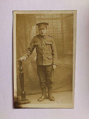 Old World War 1 Postcard Photograph Military WW1 Army Soldier
