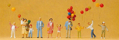 Preiser 24659 Balloon Seller & Customers HO Gauge