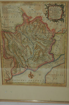 A new Map of Monmouthshire drawn from best authorities Thomas Kitchin 1764