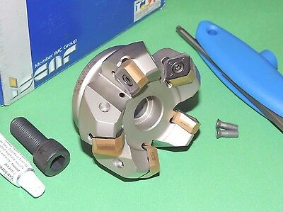 "ISCAR HELIDO 2.500"" Indexable 45° Face Mill w/ Inserts S845 F45SX D2.5-5-1.0-R16"