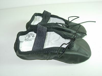 Toddler Girls Girl Black Leather Capezio Ballet Jazz Dance Shoes Size 7 W