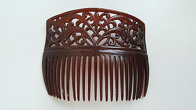 Vintage Tortoise Shell Celluloid Hair Comb