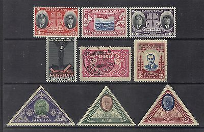 Lithuania 1924-34 air mail.