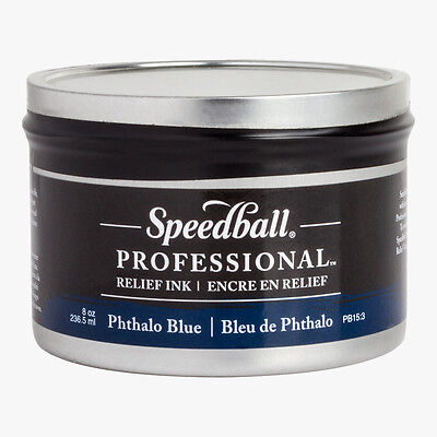 Speedball : Professional Relief Ink : 8oz (236.5ml) : Phthalo Blue