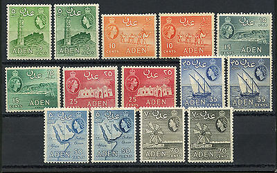 Adén, Stamps I, Elizabeth Ii $ Local Motives, 1953/1959