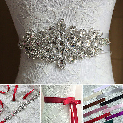 Fashion Wedding Crystal Belt Rhinestone Sash Waistband Women Bridal Prom Jewelry