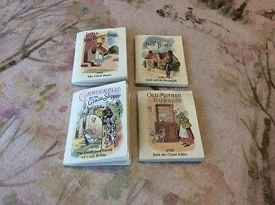 Miniature Fairy Tale Books X 4 By Tobar Ltd