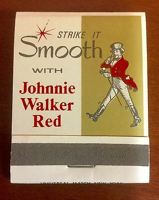 Johnnie Walker Scotch Whisky Red Label Matchbooks Lot Of 12 In Box Full Unstuck
