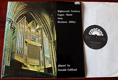 18Th Century Organ Music From Hexham Abbey Lp Gifford Crescent Ars 109 Nm Uk