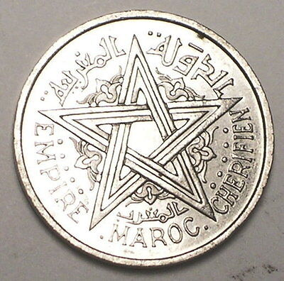 1951 Morocco Moroccan One 1 Franc Pentacle Coin XF