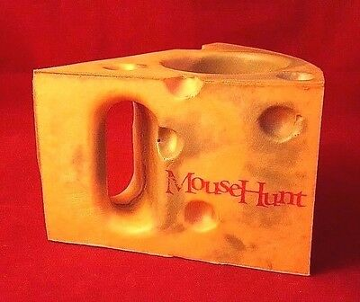 MOUSE HUNT Foam Cheese Wedge Beer Soft Drink Can Cozy Rare Movie Promo Comedy