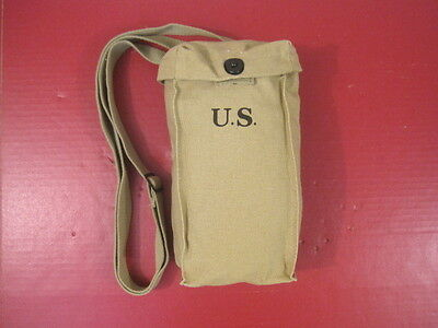 WWII US Army Thompson SMG Canvas Magazine Pouch or Bag - Dated 1942 - Repro