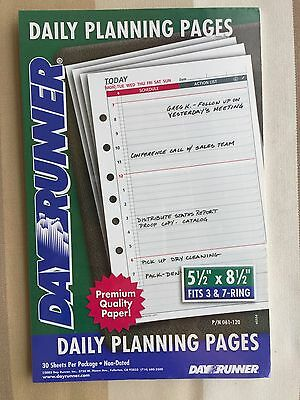 Day Runner Daily Planning Pages 061-120 5.5 x 8.5 Inches