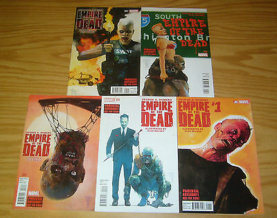 George A. Romero's Empire of the Dead: Act 1 #1-5 VF/NM complete series 2 3 4