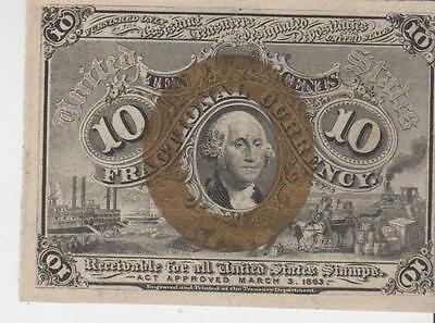 Fractional Currency 10 cent AU - Lot 770