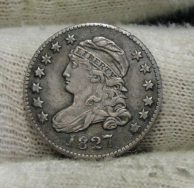 1827 Capped Bust Dime 10 Cents - Very Nice Coin, Free Shipping  (6112)
