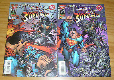 the Darkness/Superman #1-2 VF/NM complete series - ron marz - tyler kirkham set