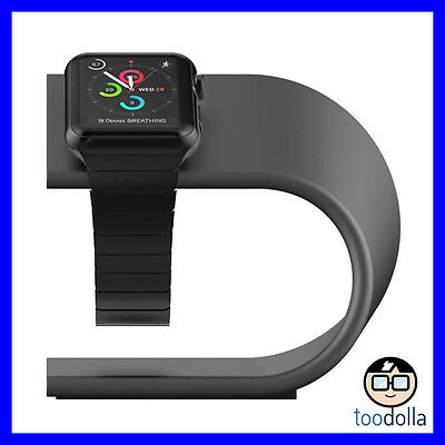 NOMAD Desktop Stand - solid anodised aluminium for Apple Watch, Space Grey