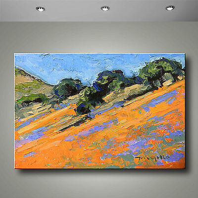 JOSE TRUJILLO Fine Art PRINT Signed Giclee Canvas ABSTRACT Impressionist Orange