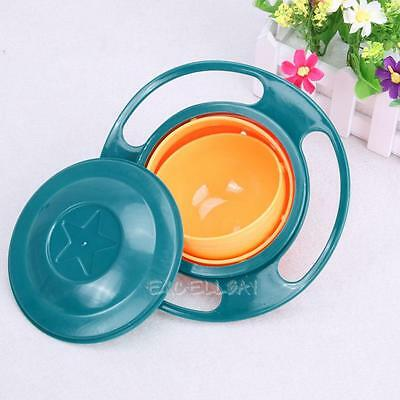 Baby Feeding Dish Cute Gyro Bowl Universal 360 Rotate Spill-Proof Bowl for Kids
