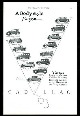 1924 Cadillac Imperial Limousine coupe town brougham 13 car vintage print ad