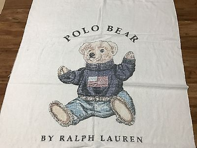"Vtg 90s Polo Bear By Ralph Lauren Towel 67"" X 34.5"" Made USA"