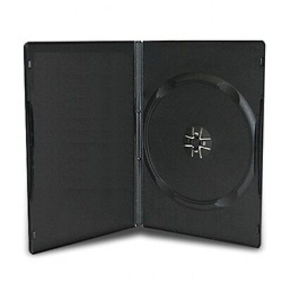 100 SLIM Black Single DVD Cases 9MM