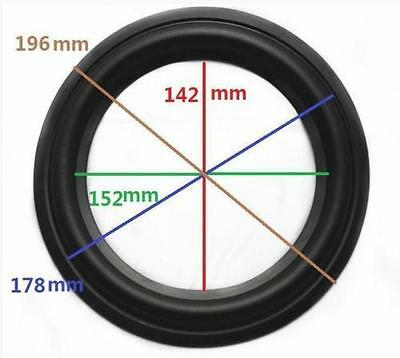 "High Quality 8"" 8inch 196mm Speaker Surround Repair Rubber Edge Replacement"
