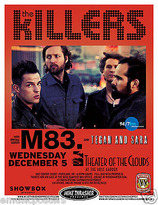 THE KILLERS /M83./ TEAGAN & SARAH 2012 PORTLAND CONCERT POSTER - Brandon Flowers