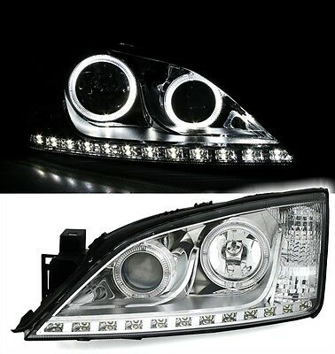 Eagle Eyes Scheinwerfer für FORD MONDEO MK3 Angel Eyes LED TFL Optik