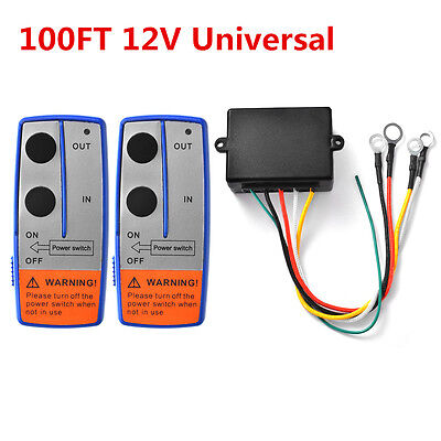 Universal Car Auto Truck 100ft 12V Wireless Winch Remote Control Switch Handset