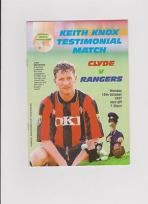 Clyde v Rangers 1997 Keith Knox