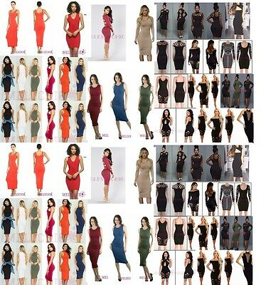wholesale Lot 75 pcs Womens Bandage Bodycon Evening Party Cocktail Club Dress