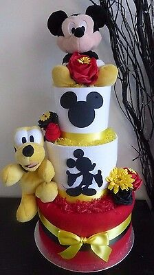 Gorgeous 3 Tier Disney's 'Mickey mouse' inspired unisex Nappy Cake, Baby Gift