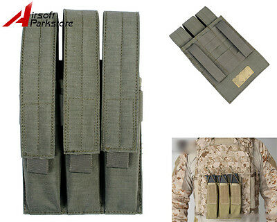Tactical Airsoft Hunting Molle Belt Triple Pistol Magazine Pouch Bag Holster FG