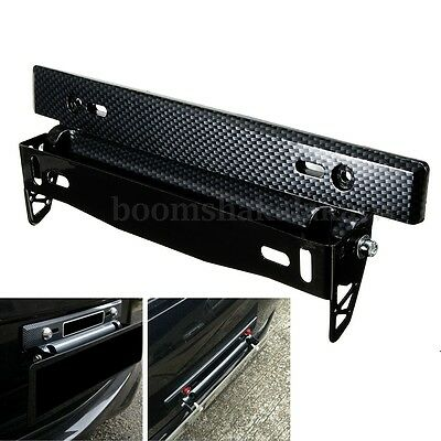 Bull Bar Front Bumper License Plate Mount Bracket Holder Offroad Light Universal