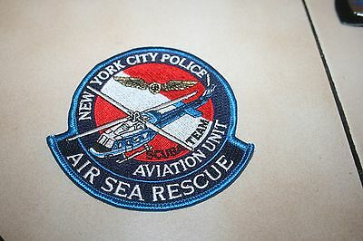 ABZ Patch New York City Police Air Sea Rescue RTH Hubschrauber USA Polizei