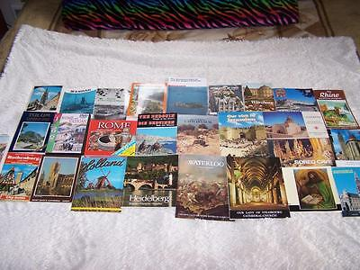 25 Historical Travel Books Souvenir Guides of Various International Locations