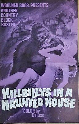 Hillbillys In A Haunted House (1967) Lon Chaney * Great Original Pressbook !