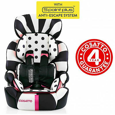 New Cosatto Zoomi Group 123 Car Seat Childs Carseat Booster Go Lightly 2