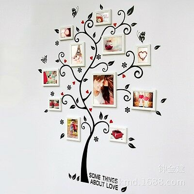 Family Photo Frame Birds Tree Removable Wall Art Sticker Vinyl Home Wallpaper