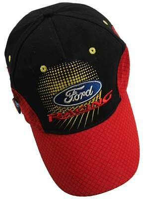 CAP Ford Racing OMSE Red and Black Rally Cross Mesh Pattern Peak Flex Fit  AUS