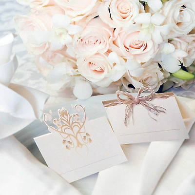 24 Rustic Wedding Party Elegant Die Cut Table Place Cards Placecards