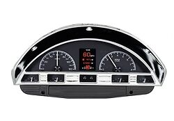1956 Ford F-100 Pickup HDX Dakota Digital Instruments (Black Alloy)