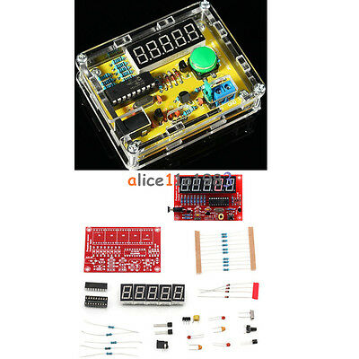 1Hz-50MHz Crystal Oscillator Tester Frequency Counter DIY Kits Meter w/Case