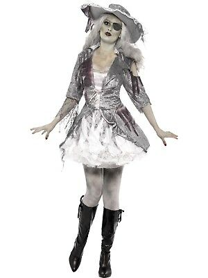 Ghost Ship Pirate Treasure Caribbean Swashbuckler Halloween Fancy Dress Costume