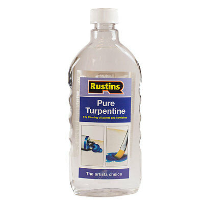 Rustin's : Pure Turpentine for Artists : 500ml : By Road Parcel Only (By Road Pa