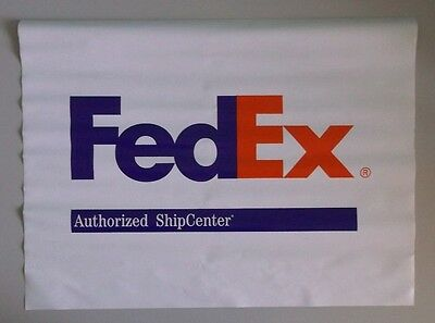 "FEDEX Authorized Ship Center Vinyl Two-Side Banner Sign 24"" x 18"""