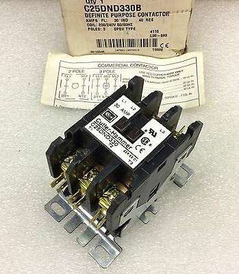 Cutler Hammer C25Dnd330B Definite Purpose Contactor 30A 208/240V Coil New In Box